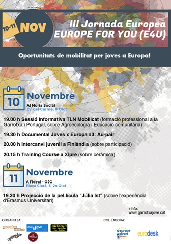 "III Jornada Europea ""Europe 4 you"""
