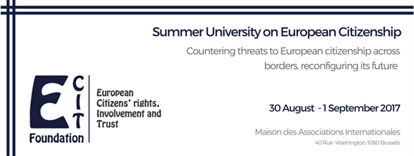 REGISTRATION: Summer University on European Citizenship / 30 August - 1 September 2017
